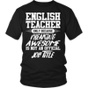 English Teacher Only Because Freaking Awesome Is Not An Offcial Job Title Shirt