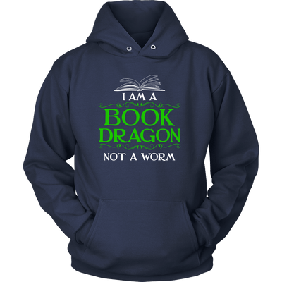 I Am A Book Dragon Not A Worm Shirt - Awesome Librarians - 7