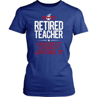 Retired Teacher Earned It Living It Loving It Shirt - Awesome Librarians - 7