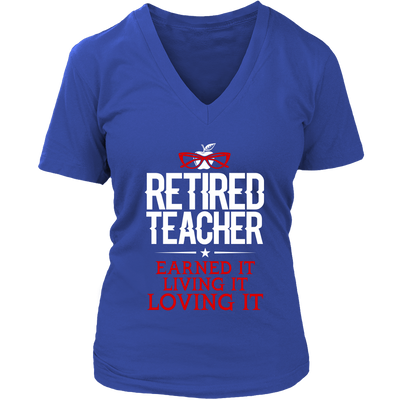 Retired Teacher Earned It Living It Loving It Shirt - Awesome Librarians - 12