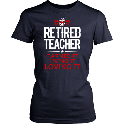 Retired Teacher Earned It Living It Loving It Shirt - Awesome Librarians - 8