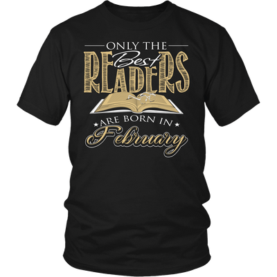 Only The Best Readers Are Born In February Shirt
