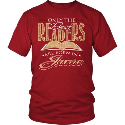Only The Best Readers Are Born In June Shirt