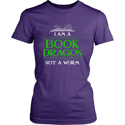 I Am A Book Dragon Not A Worm Shirt - Awesome Librarians - 2