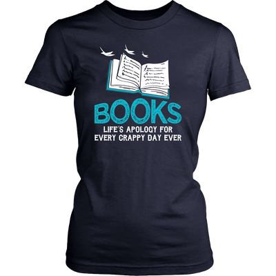 Books Life's Apology For Every Crappy Day Ever Shirt - Awesome Librarians - 8