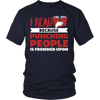 I Read Because Punching People Is Frowned Upon Shirt - Awesome Librarians