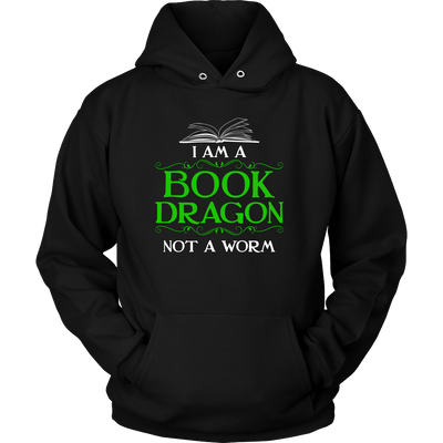 I Am A Book Dragon Not A Worm Shirt - Awesome Librarians - 6