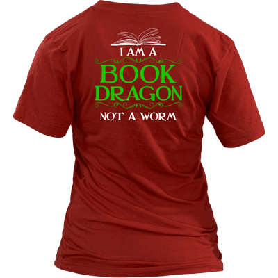 Book Dragon Shirt (Back) - Awesome Librarians - 11