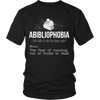 Abibliophobia. The Fear Of Running Out Of Books To Read Shirt