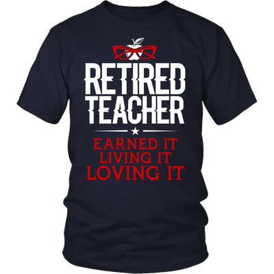 Retired Teacher Earned It Living It Loving It Shirt - Awesome Librarians - 5