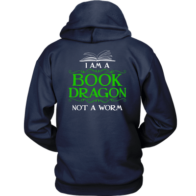 Book Dragon Shirt (Back) - Awesome Librarians - 3
