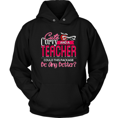 Cute, Curvy And A Teacher Could This Package Be Any Better? Shirt - Awesome Librarians