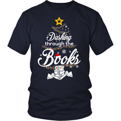 Dashing Through The Books Shirt - Awesome Librarians