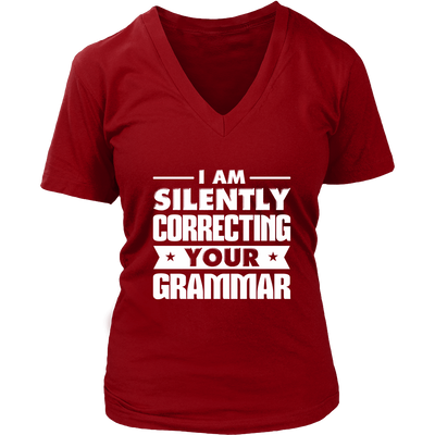 I Am Silently Correcting Your Grammar Shirt - Awesome Librarians - 10
