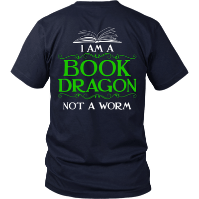 Book Dragon Shirt (Back) - Awesome Librarians - 5