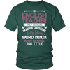 English Teacher Only Because Grammar Correcting Story Telling Word Ninja Is Not An Official Job Title Shirt - Awesome Librarians