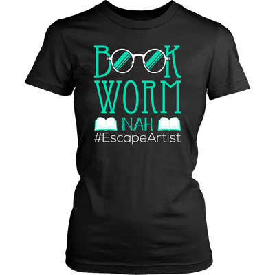 Book Worm Nah #Escape Artist Shirt - Awesome Librarians - 5