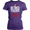 Retired Teacher Earned It Living It Loving It Shirt - Awesome Librarians - 6