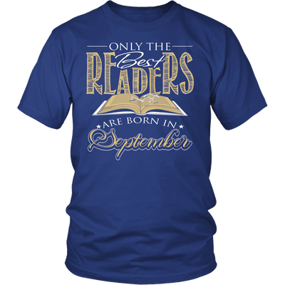 Only The Best Readers Are Born In September Shirt