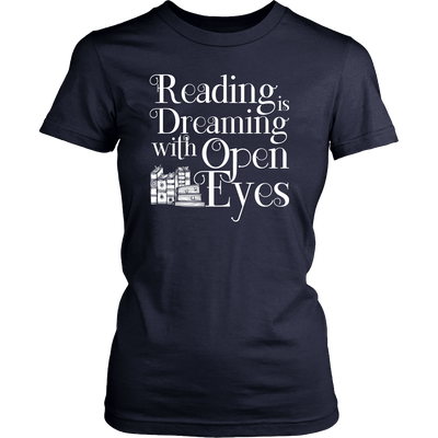 Reading Is Dreaming With Open Eyes Shirt - Awesome Librarians - 8