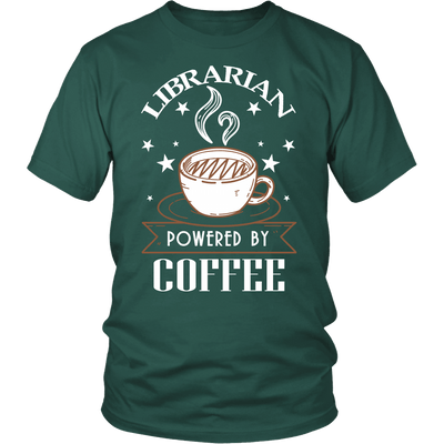 Librarian Powered By Coffee Shirt