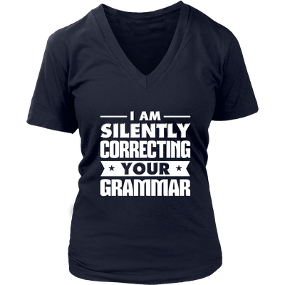I Am Silently Correcting Your Grammar Shirt - Awesome Librarians - 12