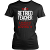 Retired Teacher Earned It Living It Loving It Shirt - Awesome Librarians - 1