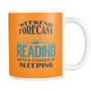 Weekend Forecast Reading With A Chance Of Sleeping Mug - Awesome Librarians - 9