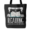 All I Care About Is Reading... And Like Maybe 10 People Tote Bag - Awesome Librarians