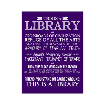 This Is A Library Crossroads Of Civilization Poster - Awesome Librarians