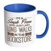 I'm A Simple Person Who Just Likes Long Walks In The Bookstore 11oz Accent Mug - Awesome Librarians