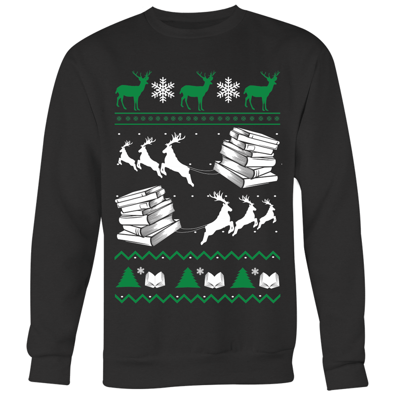 Ugly Christmas Sweater For Book Lovers - Awesome Librarians