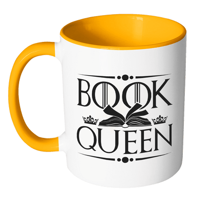 Book Queen Accent Mug - Awesome Librarians