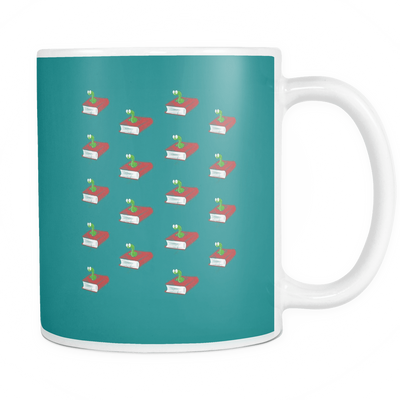 Book Worm Pattern Mug