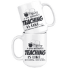 A Day Without Teaching Is Like.... Just Kidding, I Have No Idea 15oz Mug - Awesome Librarians