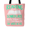 Reading Gives Us Someplace To Go When We Have To Stay Where We Are Tote Bag
