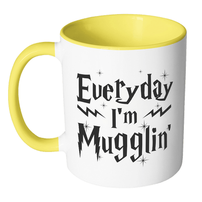 Everyday I'm Mugglin Accent Mug - Awesome Librarians