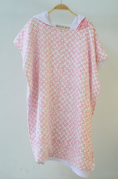 Pink Star Motif Hooded Towel