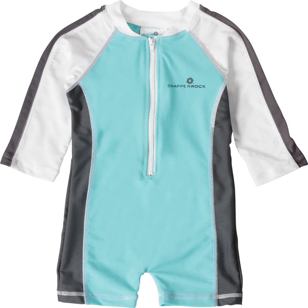 Aqua Graphite LS Sunsuit