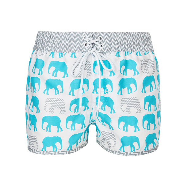 Aqua Elephant Board Short