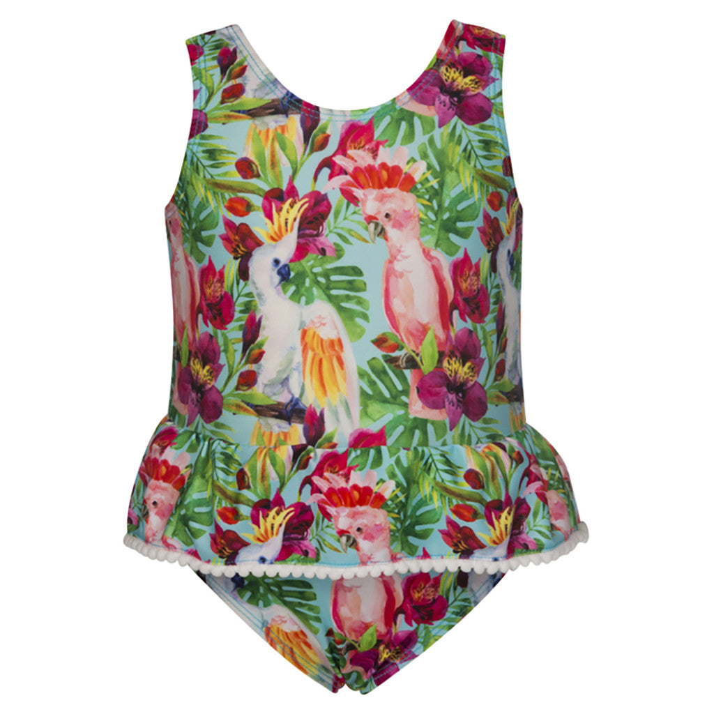 TROPICAL BIRDS BABY SWIMSUIT