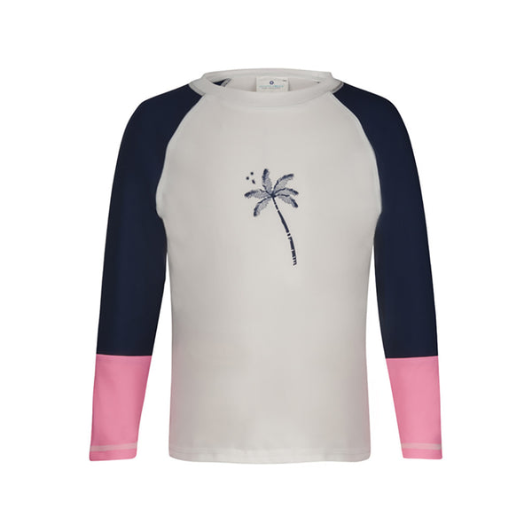 MIDNIGHT PALM COLORBL LS RASH TOP