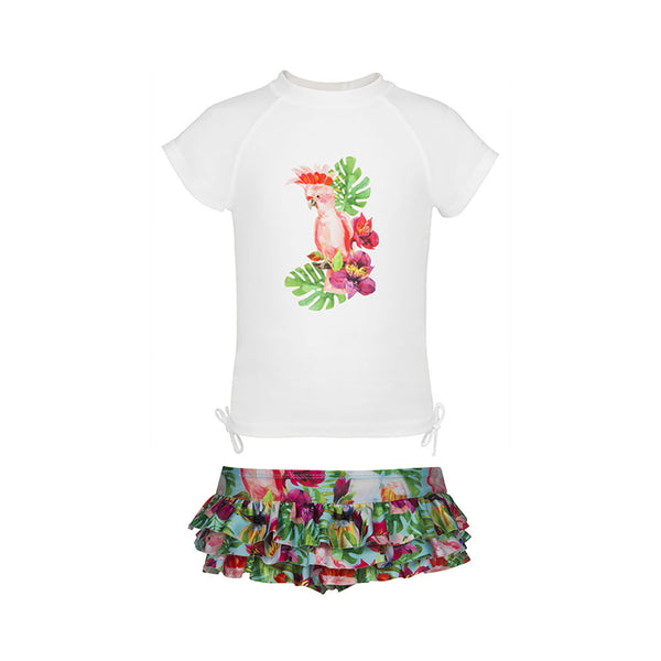 TROPICAL BIRDS - cap sleeve