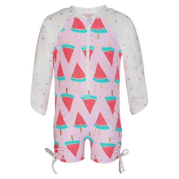WATERMELON LS SUNSUIT