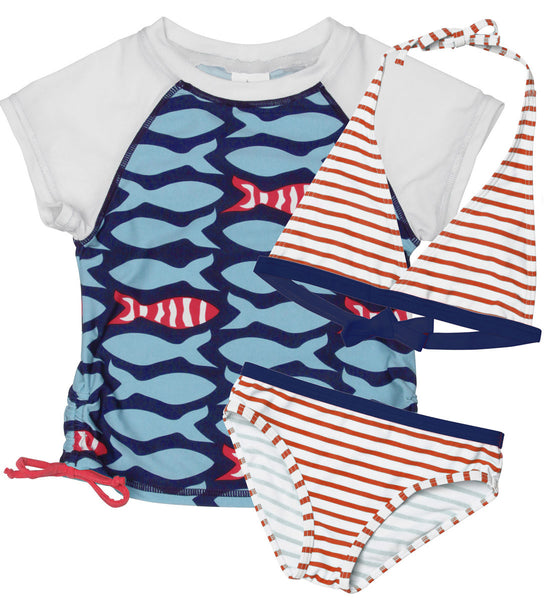 Stripe Fish SS Bikini Set
