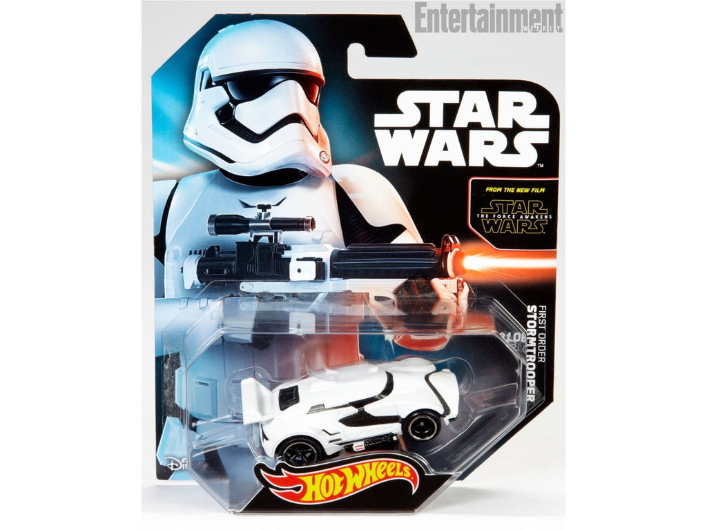 SDCC 2015 Mattel Hot Wheels Star Wars The Force Awakens Stormtrooper Vehicle - [barcode] - Dragons Trading