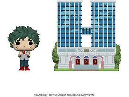 [Preorder] My Hero Academia: Deku (School Uniform) and U.A. High School Pop Town Figure - [barcode] - Dragons Trading