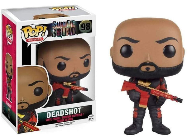 Funko POP! Heroes: Suicide Squad- Deadshot (No Mask) Pop - [barcode] - Dragons Trading