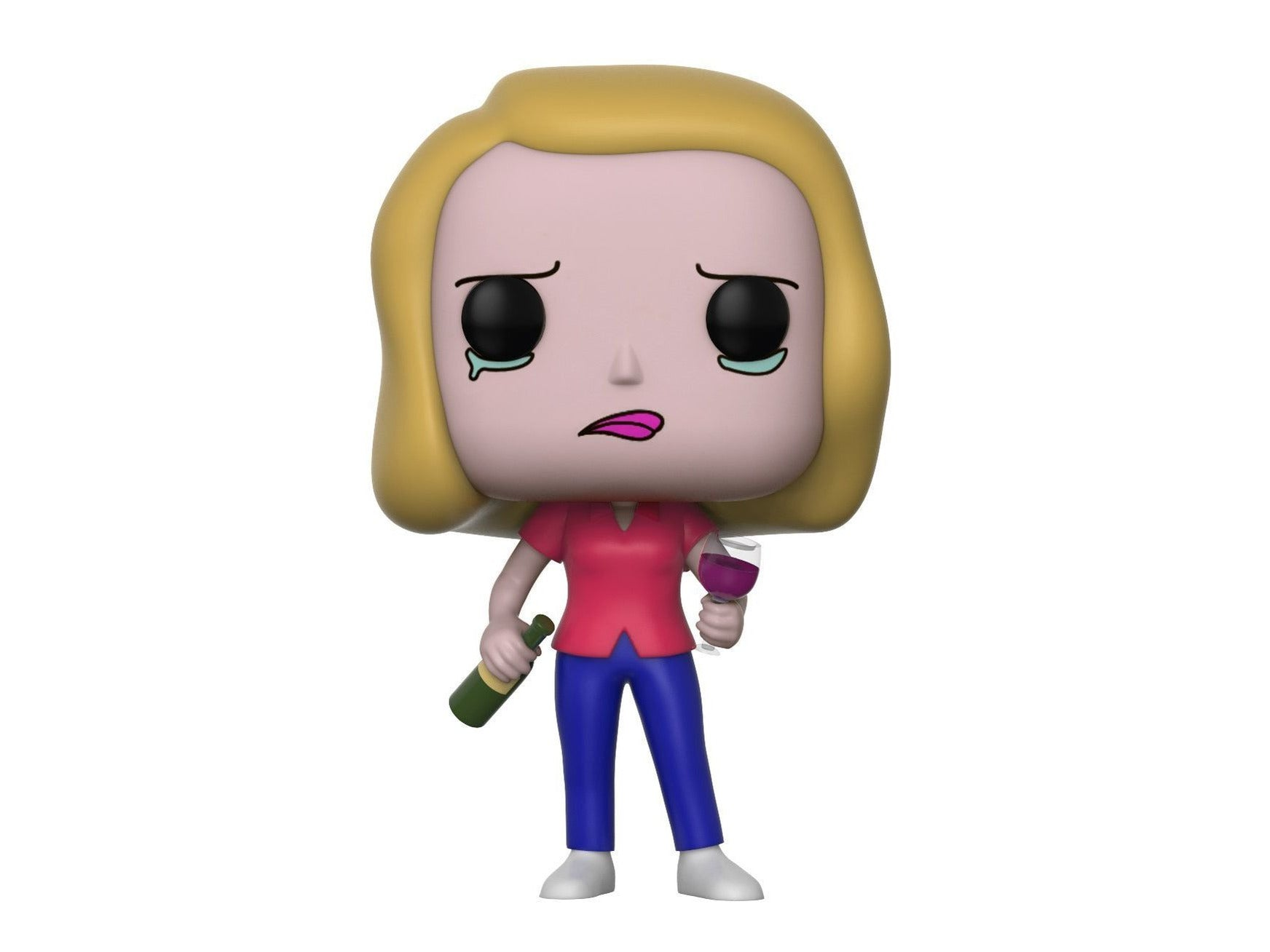Funko Pop Animation: Rick and Morty-Beth with Wine Glass Collectible Figure