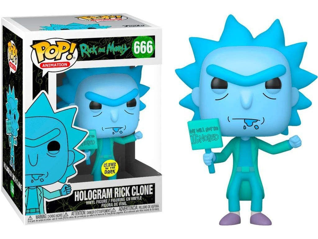 Rick and Morty: Rick (Hologram) (GITD) Pop Figure (Special Edition)
